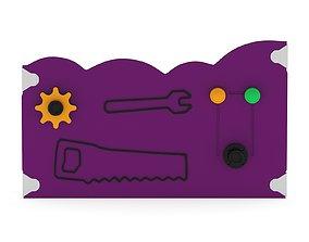 Lappset Junior Tools Activity Panel 3D model