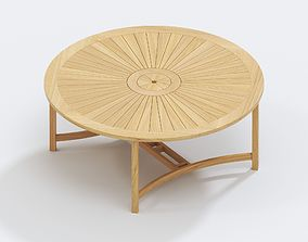 Williamsburg Teak Dining Table 3D model