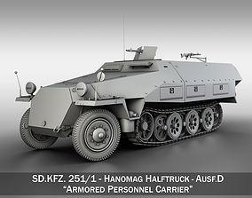 3D SDKFZ 251 - Ausf D - Hanomag Half-Truck