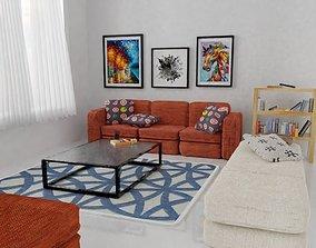 Simple room design in Blender 3d living-room