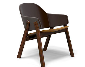 Clutch Leather Lounge Chair 3D asset