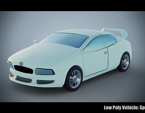 Low Poly Vehicle - Sport Car 3D model