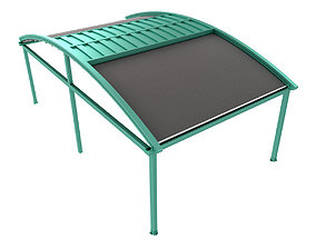 3D Motorized Pergola 2a copper patina