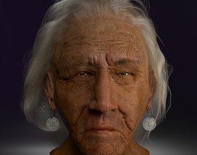 3D model American Indian hyper realistic