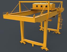PBR Rail Mounted Gantry Crane RMG V2 - Yellow 3D model