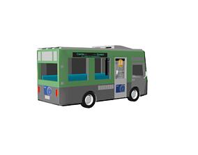 Minibus 3D model realtime