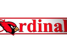 Arizona Cardinals logo Banner 3D model