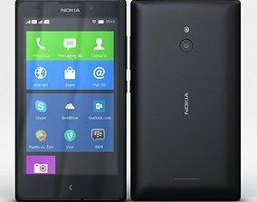 Nokia XL and XL Dual Black 3D model