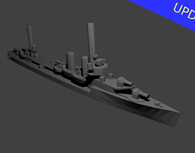 3D printable model US Farragut Class Destroyer Warship