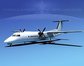 3D model DeHavilland DHC-8-Q300 Unmarked