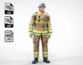 3D print model N2 Firefighter or fireman Extinguishing
