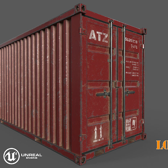 Old Red Shipping Container