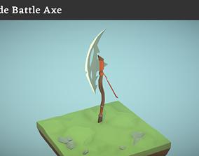 Crude Battle Axe 3D model