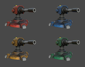 Turret 3D model game-ready