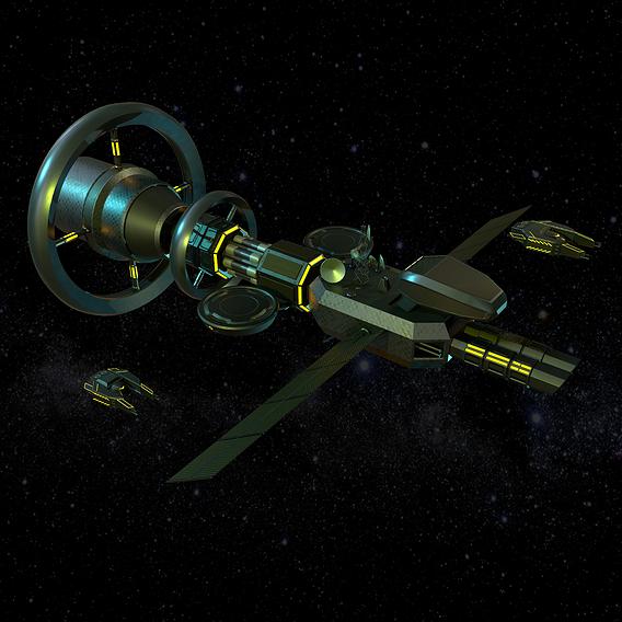 Sci-fi spaceship class cruiser
