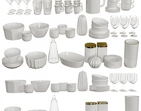 Set of dishes 3D
