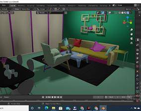 siting room 3D print model