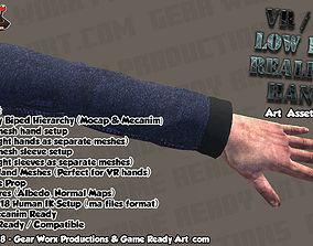 VR - FPS Low Poly Realistic Hands Pack 3D model