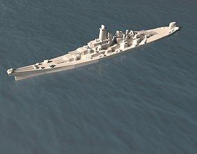 USS Montana Ship 3D asset