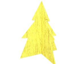 3D model Wooden Christmas Trees v1 002