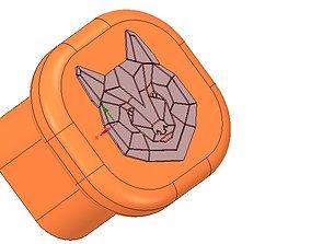 custom-made furniture handle knob 3d-print w bear