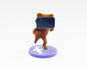 3D printable model Virtual Reality Facebook Bear