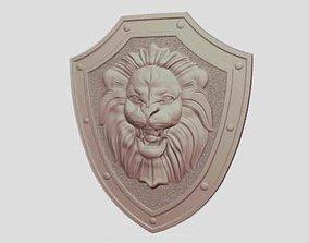 3D print model Lion Knight Shield