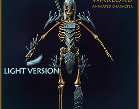 Skeleton Warlord Light Version 3D model animated