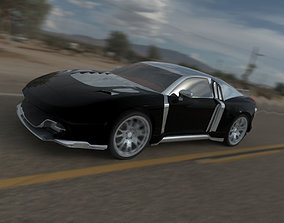 3D model GT car with two engines