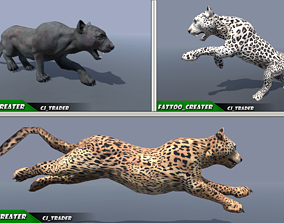 Lowpoly Wild Animal Leopard-Cats Collection Pack Rigged 1