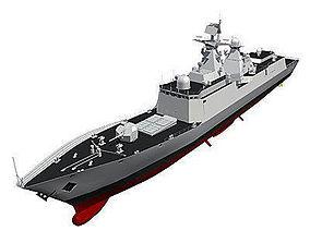 3D model Chinese Navy FFG-054A Class Frigate C4D