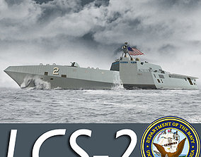 3D US Navy Littoral Combat Ship LCS-2 Independence
