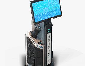 3D asset Sci Fi Terminal 02 Low Poly