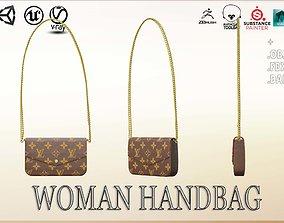 3D model VR / AR ready Woman Handbag Louis Vuitton