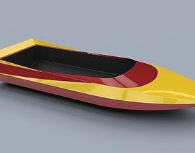 Hull of jet sprint boat 3D model
