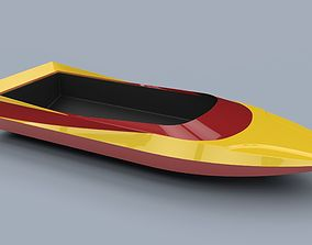 Hull of jet sprint boat 3D