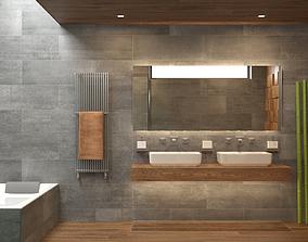 Photorealistic Bathroom Scene 02 3D model