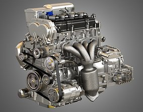 3D Altima Hybrid - 4 Cylinder 2012 Engine and