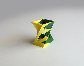 Twisted Box Vase Dual Extrusion - 2 3D printable model