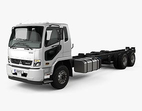 3D Mitsubishi Fuso Fighter 2427 Chassis Truck with HQ 1