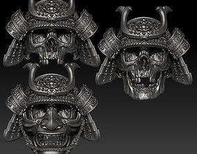 3D skull rings Samurai