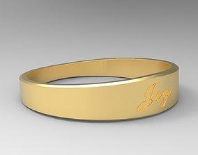 3D printable model Joy Female Ring Gold 24k