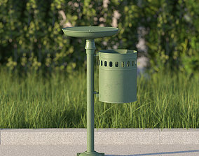 vienna public ashtray dustbin 3D model