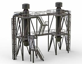 Old Industrial ventilation system 3D asset
