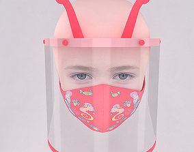 3D covid19 Medical face shield and mask for kids