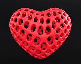 3D print model Heart Symbol Wireframe