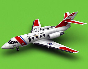 3D model Dassault Falcon 20 200 HU-25 USCG