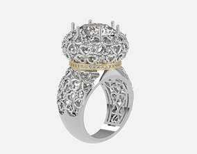 ring with patterns 3D print model ringflower
