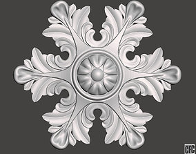 WoodCarving detail - 3d model for CNC - WCCFC0O
