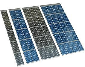 Solar cell panel engineering 3D model